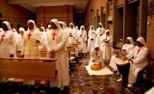 Il Cardinale Philippe Ouedraogo a Grottaferrata