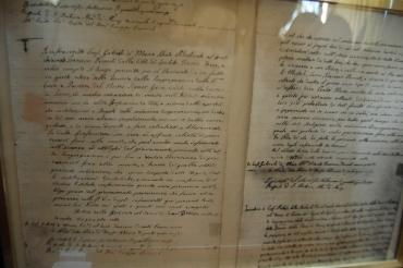 Scritto autografo di San Gabriele